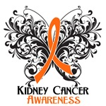 Butterfly Floral Kidney Cancer Shirts and Gifts