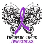  Butterfly Floral Pancreatic Cancer Shirts
