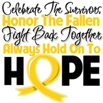 Childhood Cancer Celebrate Honor Fight Hope Shirts