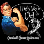 I Fight Like a Girl Carcinoid Cancer Shirts