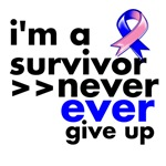 Never Give Up Male Breast Cancer Shirts
