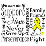 Sarcoma Cancer Supportive Words Shirts and Gifts