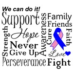Male Breast Cancer Supportive Words Shirts