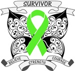 Lymphoma Survivor Butterfly Shirts