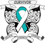 Cervical Cancer Survivor Butterfly Shirts