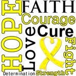 Hope Faith Courage Testicular Cancer Shirts