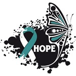 Hope Grunge Butterfly Cervical Cancer Shirts