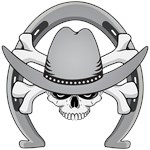 Cowboy Skull Horseshoe