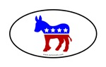 Democratic Candidates Oval Stickers