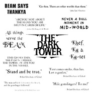 Dark Tower text collage