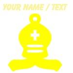 Custom Yellow Chess Bishop
