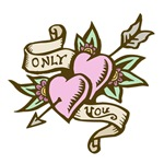 Only You Heart with Arrow Tattoo