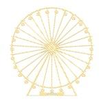 Retro Ferris Wheel Silhouette - stripes