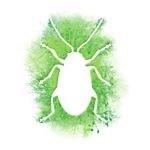 Flea Beetle Tree Outline Silhouette