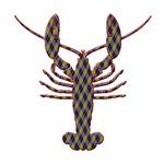 Lobster - argyle silhouette