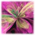 Neon Flower Cat Forsley Designs