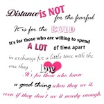 Distance is not for the fearful