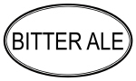 BITTER ALE (oval)