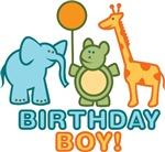 Retro Zoo Animals Birthday Boy