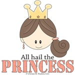 Princess Gifts and Princess T-shirts for Brunettes