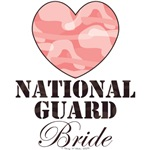 National Guard Wife Brown Pink Camo Heart