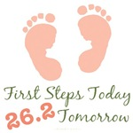 Baby Steps 26.2 Marathon Runner Onesie Gifts