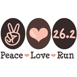 Peace Love Run 26.2 Marathon Apparel Gifts