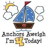 4th Birthday Sailboat Nautical Theme Party Ideas