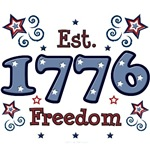 Est 1776 Freedom 4th of July T shirt Gifts