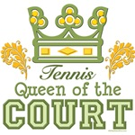 Queen Of The Court Tennis Player T shirt Gifts