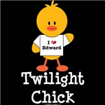 I Heart Edward Twilight Chick T shirt Tees Gifts