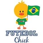 Brazilian Soccer Futebol Chick T shirt Tees Gifts