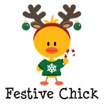 Festive Chick T-shirts Tees and Gifts