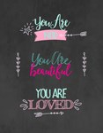 You Are Loved Chalkboard Quote