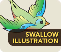 Swallow Tattoo T-Shirts & Accessories