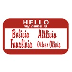 Fringe: Hello my name is Fauxlivia Sticker