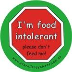 I'm food intolerant-allergy alert