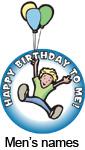 Happy Birthday to me (Boy's Names)