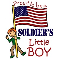 Proud to Be a Soldier's Little Boy (Red Hair)