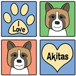 I Love Akitas (Brown Akitas)