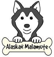 Alaskan Malamute Cartoon T-Shirts and Gifts