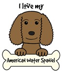 Chocolate American Water Spaniel Cartoon