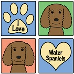 I Love American Water Spaniels (Chocolate)