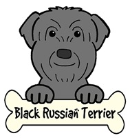 Black Russian Terrier Cartoon T-Shirts and Gifts