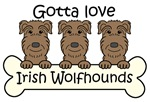 Three Irish Wolfhounds