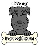Irish Wolfhound Cartoon