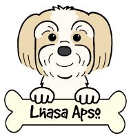 Lhasa Apso Cartoon T-Shirts and Gifts
