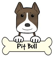 Pit Bull Cartoon T-Shirts and Gifts