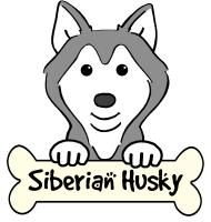 Siberian Husky Cartoon T-Shirts and Gifts