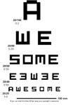 Awesome Eye Chart